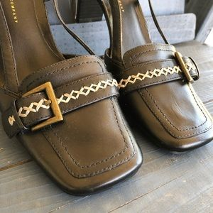Vintage Shoes - Vintage 90's Black Kitten Heel Slides Size 6